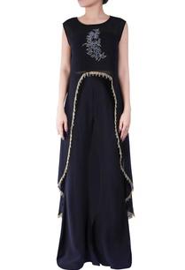 black-bugle-bead-embroidered-cape
