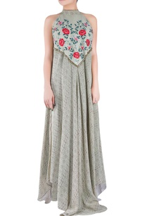 sage-green-crepe-silk-tussar-georgette-halter-dress