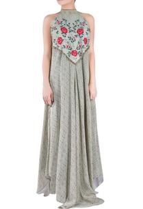 sage-green-crepe-silk-tussar-georgette-halter-dress