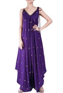 amethyst-purple-crepe-silk-dhoti-style-bugle-bead-jumpsuit