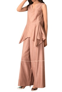 taupe-hand-woven-cotton-silk-wide-legged-pants