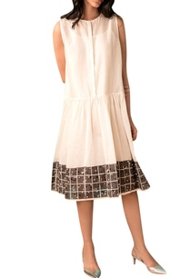 ivory-handwoven-chanderi-gathered-dress
