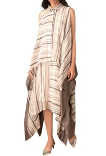 ivory-check-asymmetric-dress