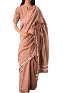 taupe-hand-woven-zari-embroidered-chanderi-saree-blouse
