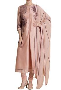 powder-pink-embroidered-kurta-set-with-matching-dupatta