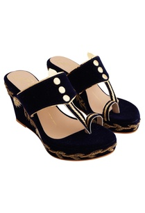 navy-blue-velvet-genuine-leather-sole-hand-embroidered-wedges