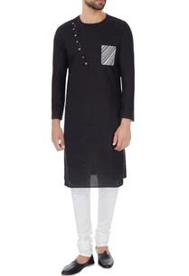black-cotton-print-details-kurta-with-off-white-cotton-silk-churidar