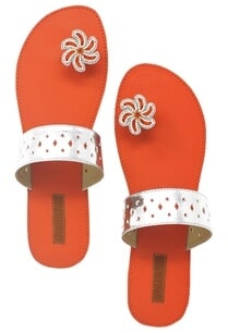 red-silver-paduka-sandals