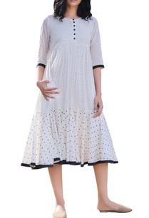 ivory-polka-dot-printed-midi-dress