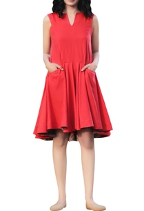 scarlet-cotton-tent-flared-dress