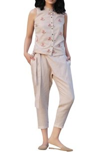 beige-overlap-pants-with-sash-pockets