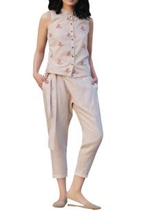 beige-overlap-pants-with-sash-pockets