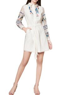 off-white-cotton-silk-hand-embroidered-shirt-dress