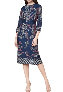 blue-cotton-silk-hand-embroidered-fitted-midi-dress