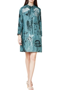 grey-silk-hand-embroidered-shift-dress