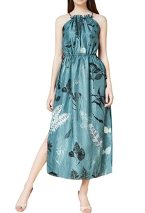 grey-silk-hand-embroidered-maxi-dress