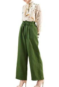 olive-green-linen-handwoven-trousers