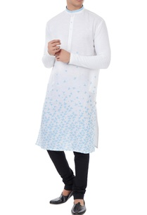 white-cotton-linen-scattered-boat-print-kurta