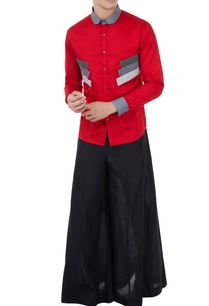 red-poplin-applique-long-shirt