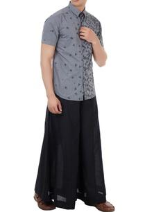 grey-poplin-boat-print-shirt