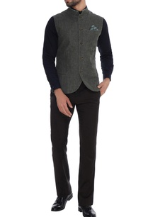 charcoal-grey-linen-jacket-with-printed-collar