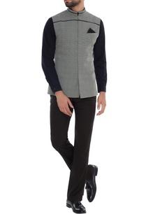 grey-black-check-bundhi-jacket-with-leather-detail-yoke