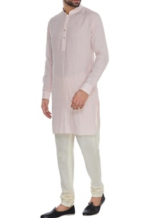 baby-pink-linen-shirt-style-kurta