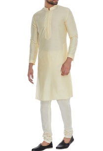 yellow-minimal-cotton-silk-kurta-with-churidar