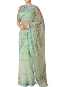 mint-nylon-net-embroidered-saree-with-blouse