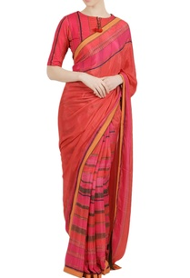 fuchsia-pink-rayon-crepe-printed-saree-with-blouse