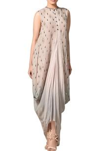 multicolored-lurex-silk-draped-cowl-kurta
