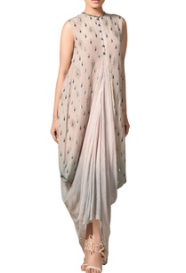 multicolored-lurex-silk-draped-cowl-kurta