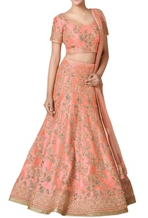 peach-zardozi-embroidered-bridal-lehenga-set