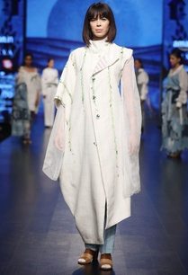 white-pure-handwoven-linen-hand-embroidered-asymmetric-jacket