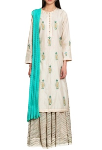 off-white-blue-chanderi-block-printed-silk-work-zardozi-kurta-with-lehenga-dupatta
