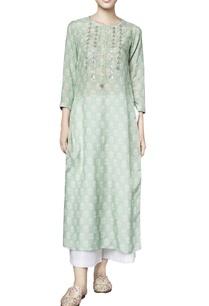 sage-green-silk-printed-talia-straight-kurta