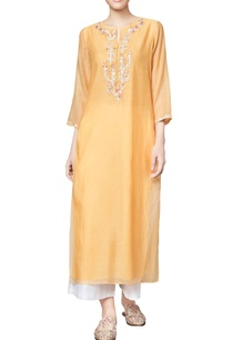 yellow-chanderi-mullmull-sidantri-straight-kurta