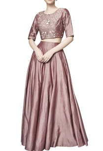 marsala-chanderi-silk-vaanya-skirt-with-top