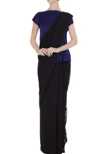 navy-blue-silk-bhandani-top-styled-blouse