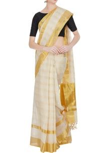 cream-pure-zari-gold-woven-handloom-cotton-saree-with-unstitched-blouse