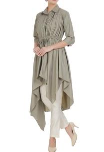 grey-poplin-asymmetric-tunic