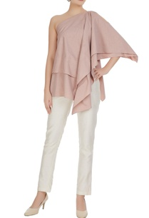 blush-pink-poplin-layered-one-shoulder-blouse