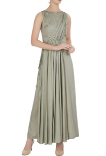 mint-green-satin-modal-pleated-jumpsuit