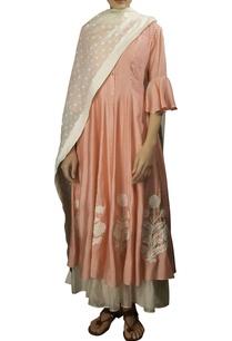 pink-soft-silk-thread-embroidered-anarkali-kurta-with-off-white-dobby-dupatta