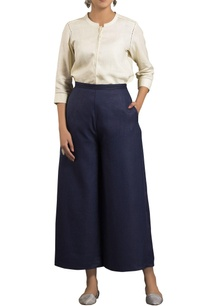 blue-high-waist-flared-trousers