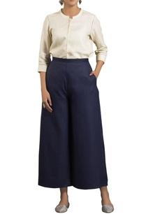blue-high-waist-flared-trousers