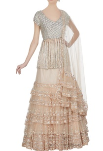 beige-tulle-net-tiered-lehenga-with-swarovski-embroidered-blouse-dupatta