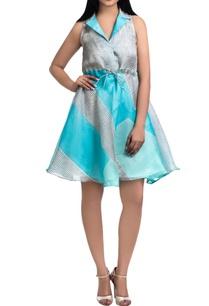 blue-organza-hand-dyed-block-printed-mini-dress