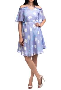 lavender-pepper-silk-brush-painted-cold-shoulder-mini-dress