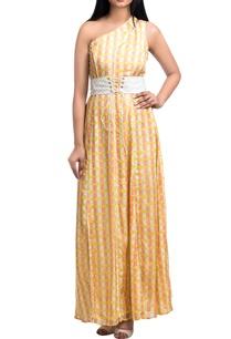 yellow-peach-pepper-silk-one-shoulder-maxi-dress-with-corset-belt